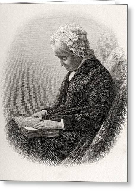 Eliza Ballou Garfield 1801 To 1888 Greeting Card by Vintage Design Pics