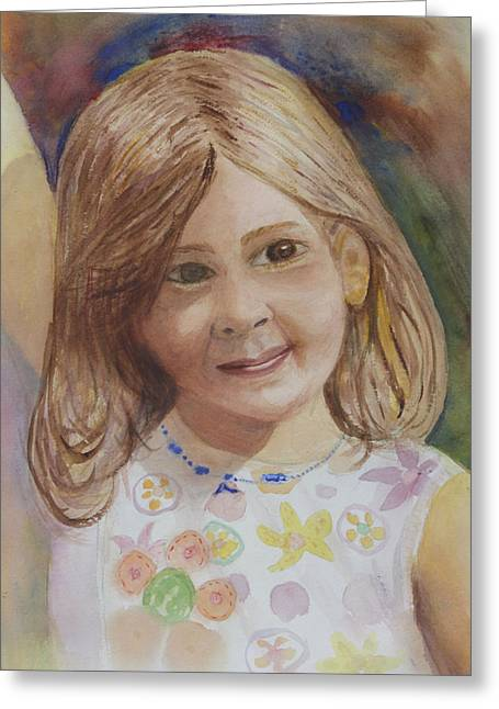 Greeting Card featuring the painting Elizabeth by Donna Walsh
