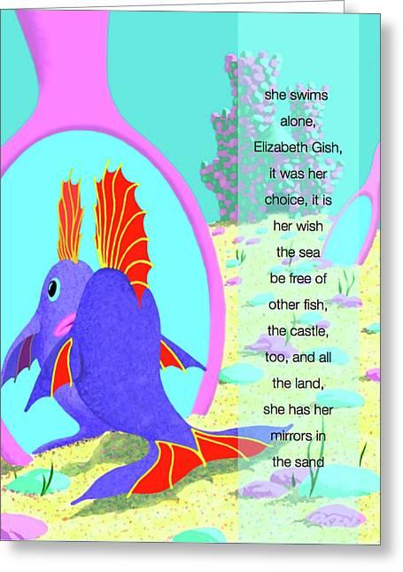 Elizabeth Gish Greeting Card by Tom Dickson