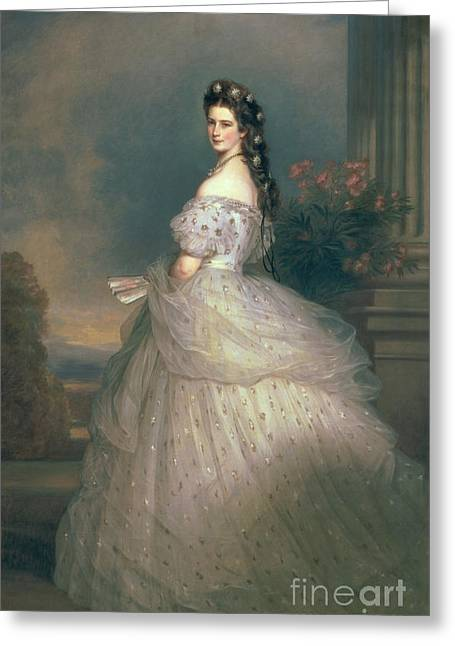 Elizabeth Of Bavaria Greeting Card by Franz Xavier Winterhalter