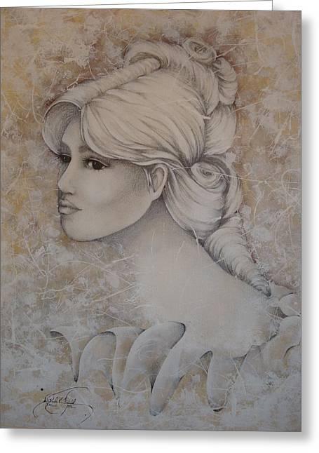 Elizabeth Greeting Card by Paula Weber