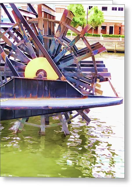 Elizabeth River Ferry Paddlewheel 4 Greeting Card