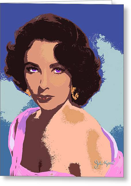 Greeting Card featuring the painting Elizabeth Taylor by John Keaton