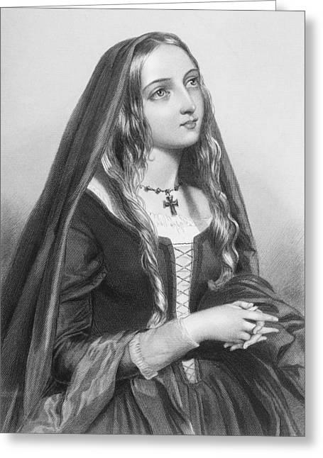Elizabeth Woodville,1437-1492. Queen Greeting Card by Vintage Design Pics