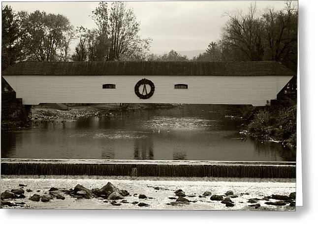 Elizabethton Covered Bridge Greeting Card by Jeff Severson
