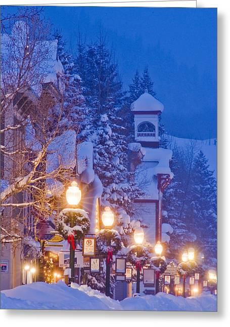 Elk Avenue Wreaths Greeting Card by Dusty Demerson