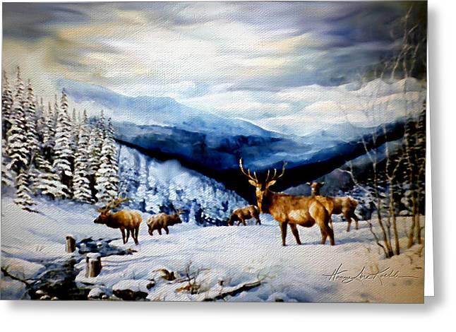 Elk In The Rockies Greeting Card