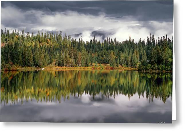 Elk Lake Greeting Card by Leland D Howard