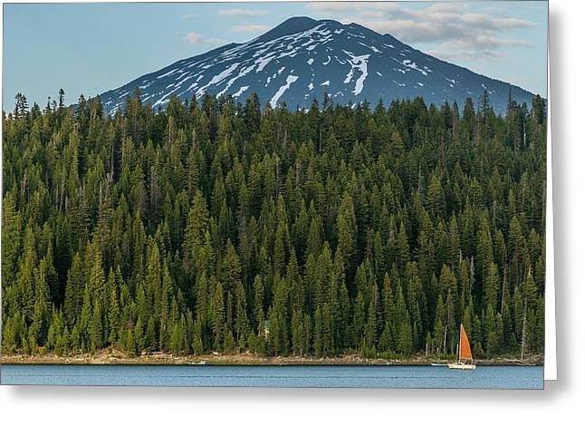 Elk Lake Sailing  Greeting Card