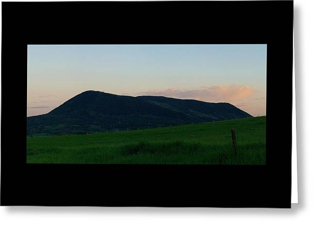 Greeting Card featuring the photograph Elk Mountain Meadow Sunset by Daniel Hebard