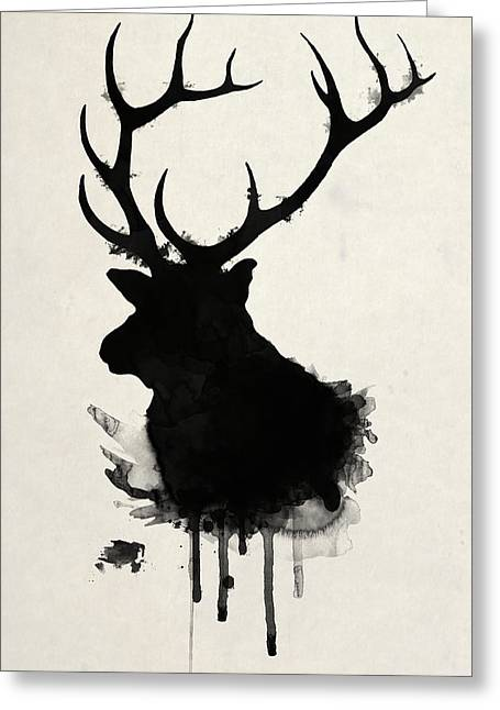 Hunting Drawings Greeting Cards - Elk Greeting Card by Nicklas Gustafsson