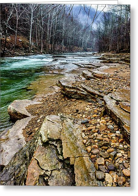 Greeting Card featuring the photograph Elk River In The Rain by Thomas R Fletcher