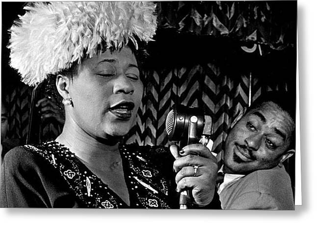 Ella Fitzgerald Dizzy Gillespie And Ray Brown William Gottlieb Photo Nyc 1947-2015 Greeting Card