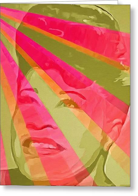 Ella Fitzgerald Pop Art Greeting Card by Dan Sproul