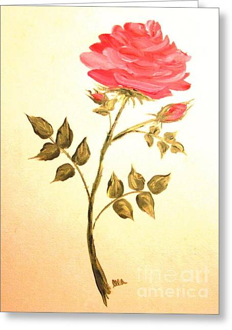 Ella's Rose Greeting Card by Leea Baltes