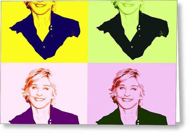 Ellen Degeneres Pop Art  Greeting Card by Pd