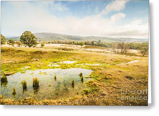 Ellendale Tasmania Background Greeting Card