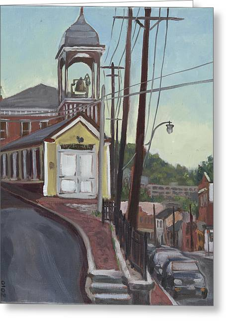 Edward Williams Greeting Cards - Ellicott City Firehouse Greeting Card by Edward Williams