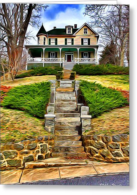 Ellicott City House Greeting Card by Stephen Younts