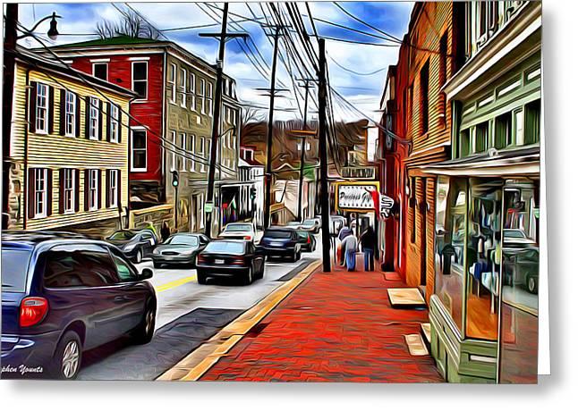 Ellicott City Sidewalk Greeting Card