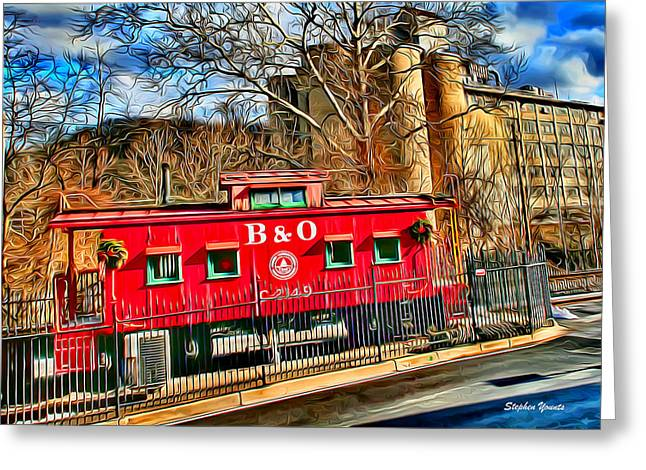 Ellicott City Train And Factory Greeting Card