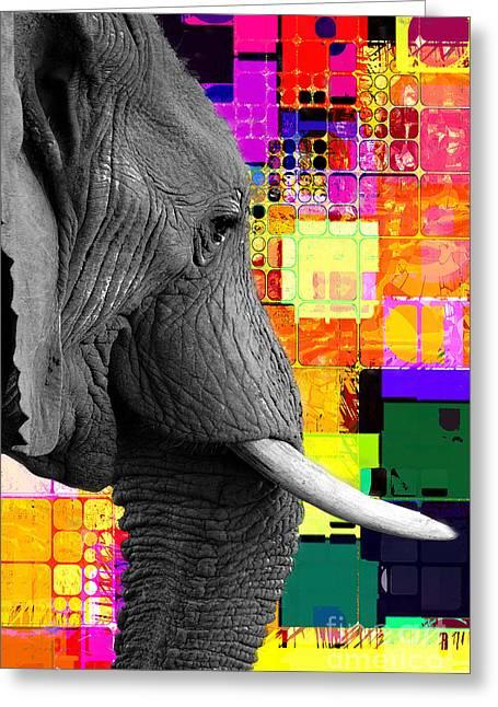 Greeting Card featuring the digital art Ellie 2017 by Kathryn Strick