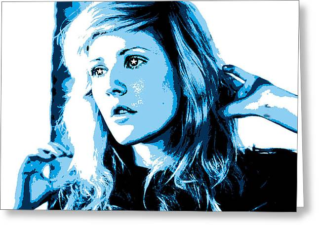 Ellie Goulding Starry Eyed Greeting Card by Brad Scott