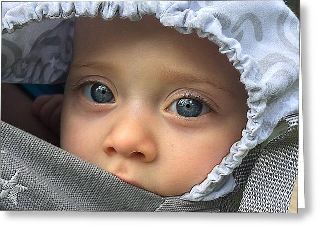 Blue Eyes Greeting Card by Gregory Schultz