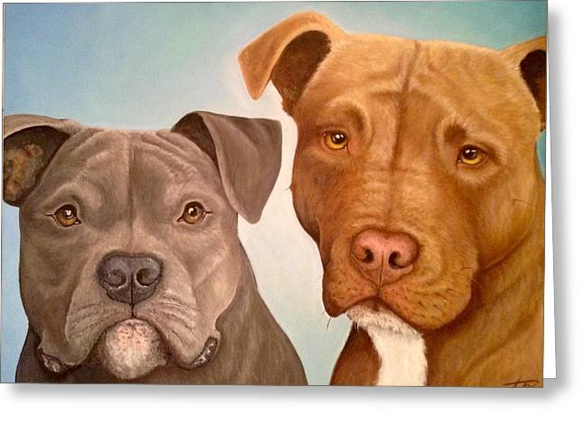 Elliot And Maxi Greeting Card