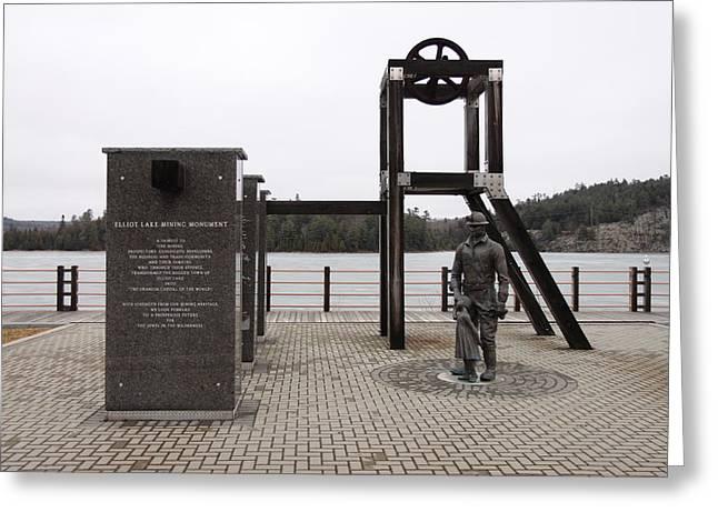 Elliot Lake Mining Monument Greeting Card by Richard Mitchell