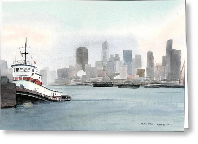 Elliott Bay Tugboat Greeting Card