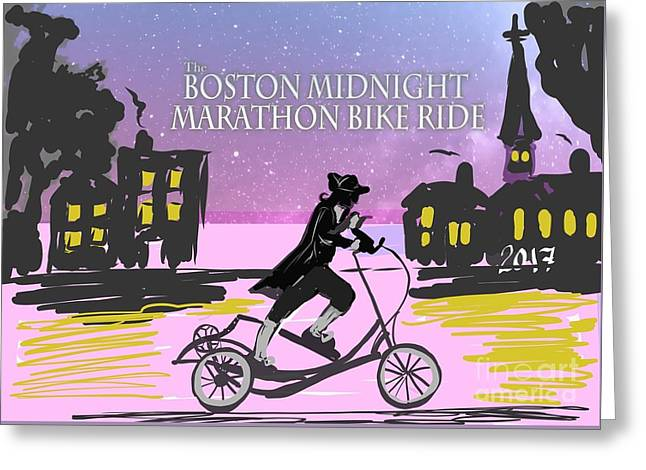 elliptigo meets the Midnight Ride Greeting Card