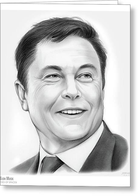 Elon Musk Greeting Card