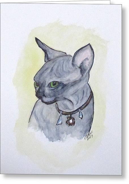 Else The Sphynx Kitten Greeting Card