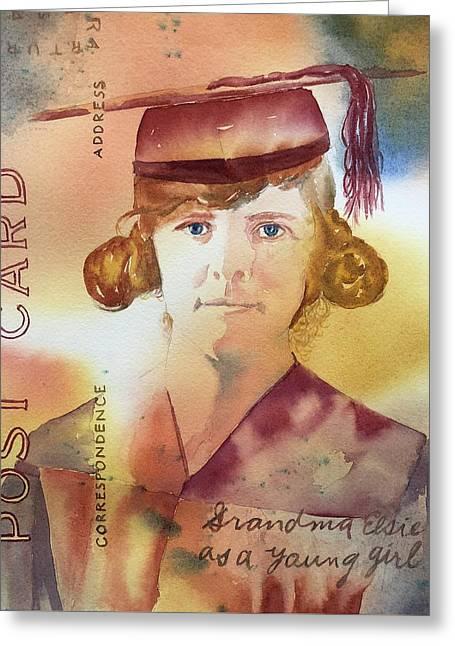 Elsie Circa 1915 Greeting Card
