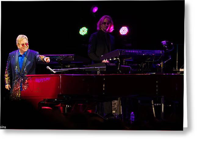 Elton - Enjoying The Show Greeting Card
