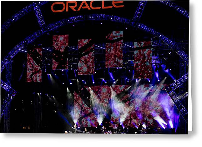 Elton John At Oracle Open World In 2015 Greeting Card
