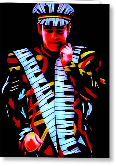 Elton John Collection Greeting Card
