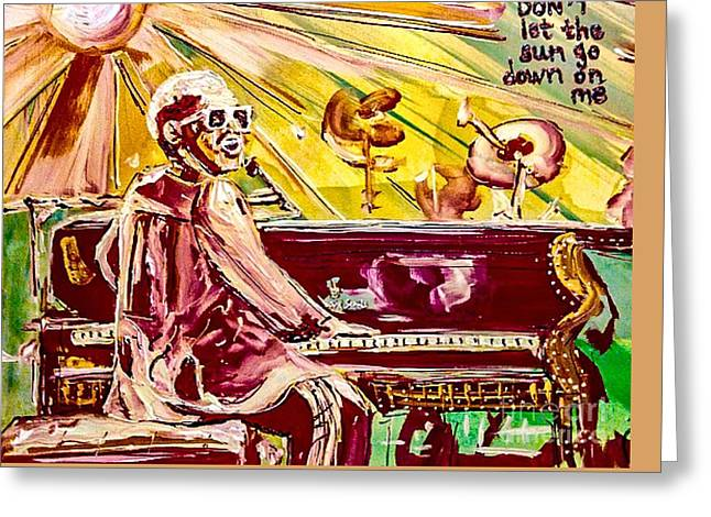 Elton Greeting Card by Paula Baker