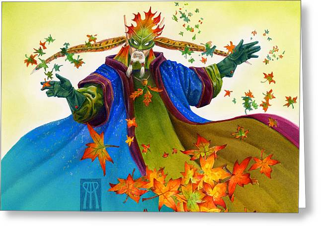 Elven Mage Greeting Card by Melissa A Benson