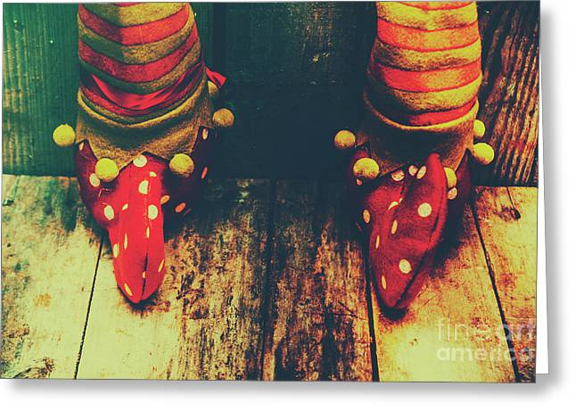 Elves And Feet Greeting Card by Jorgo Photography - Wall Art Gallery