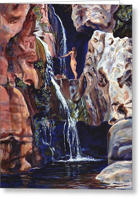 Elves Chasm Greeting Card