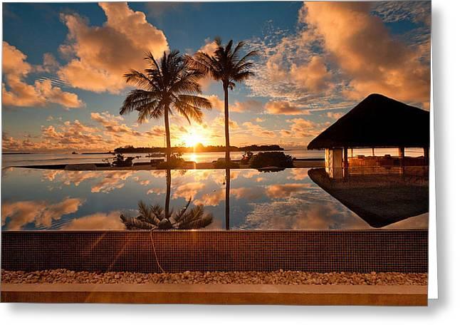 Elvin Siew Chun Wai - Beautiful Nature Sunset Landscape  Greeting Card by Elvin Siew Chun Wai