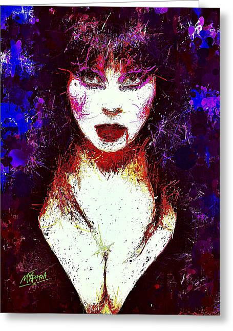 Elvira Mistress Of The Dark Greeting Card