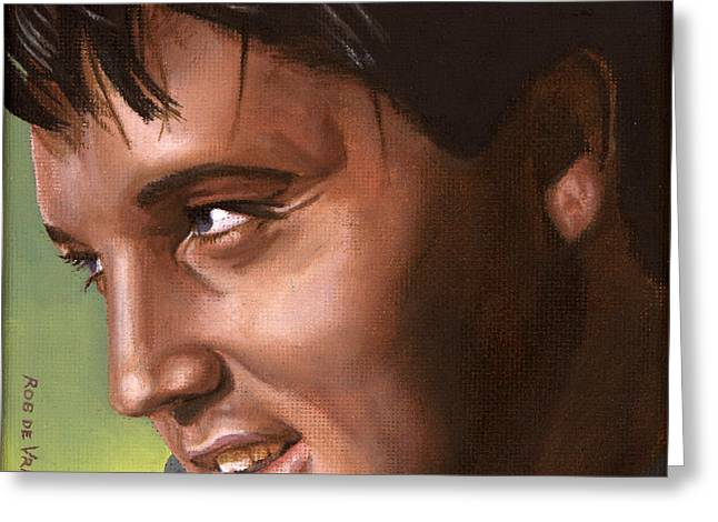 Elvis 24 1966 Greeting Card by Rob De Vries