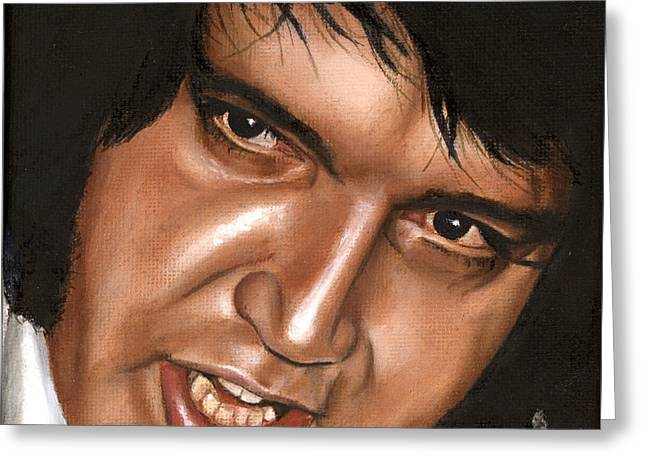 Elvis 24 1976 Greeting Card by Rob De Vries
