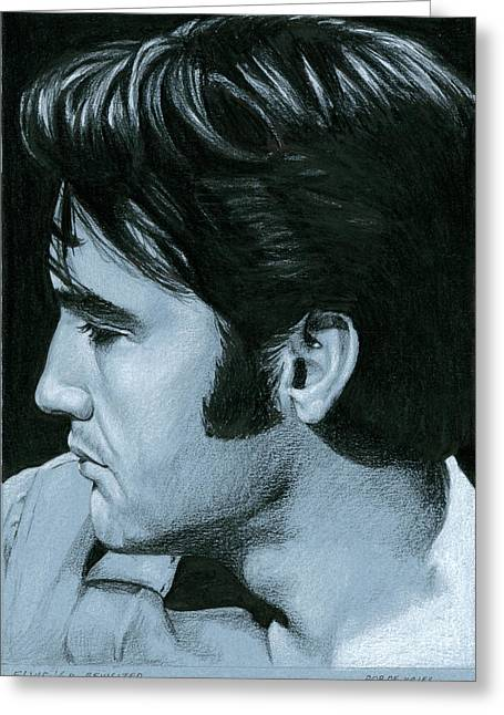 Elvis 68 Revisited Greeting Card