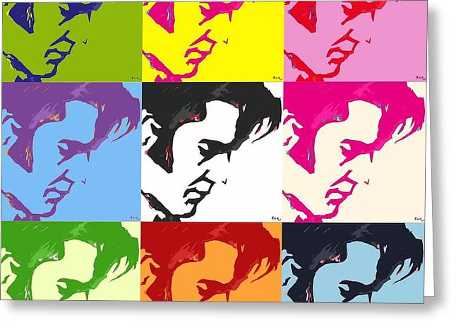 Elvis And Friends Greeting Card