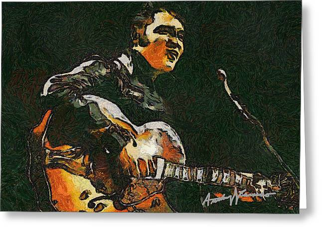 Elvis Greeting Card by Anthony Caruso