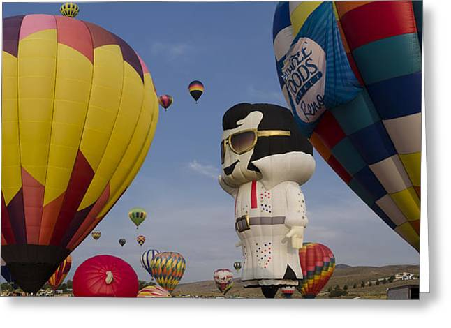 Elvis At Reno Balloon Race Greeting Card by Rick Mosher